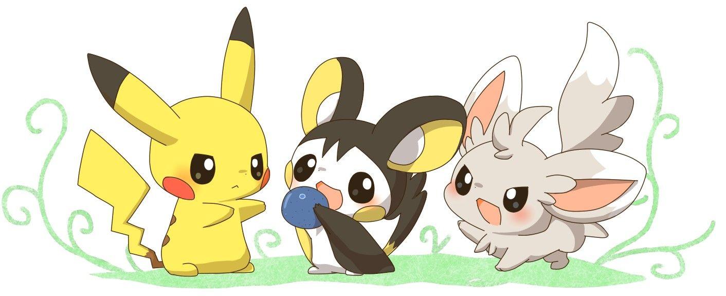 Minccino emolga and pikachu | EMO!! EMO!! | Pinterest ...