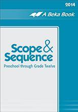 A Beka Book Scope And Sequence Homeschool Grammar Curriculum A Beka Abeka Curriculum