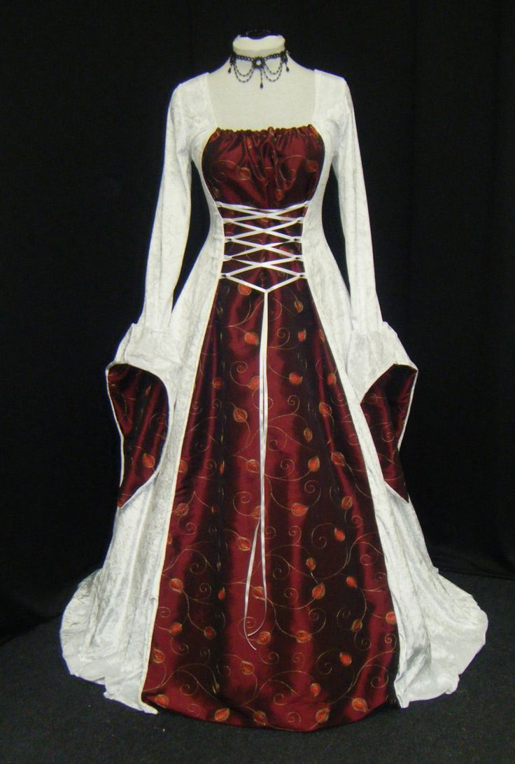 Red White And Gold Medieval Dress: Authentic Renaissance Wedding Dresses At Websimilar.org