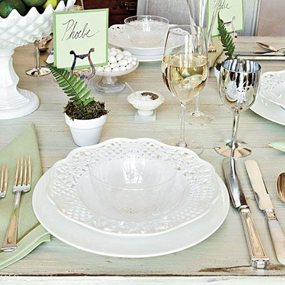 Relaxed Summer Table Setting by Eddie Ross | China, Elegant and Glass