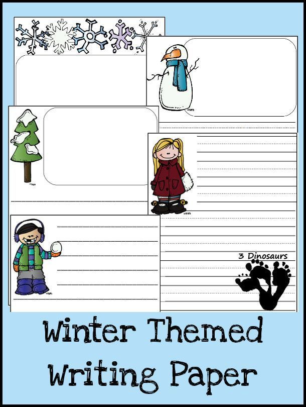Winter Themed Writing Paper | Writing paper, Literacy and Teaching ...