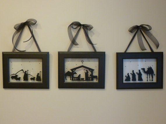 Nativity Scene - Set of Three - Framed Christmas Wall Decor - love ...