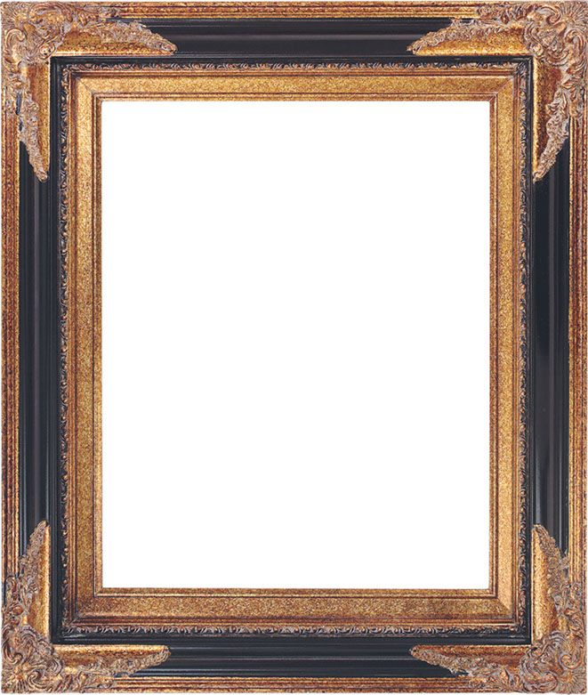 Black and gold with ornate corners. Picture Frame 250 | Kendall ...