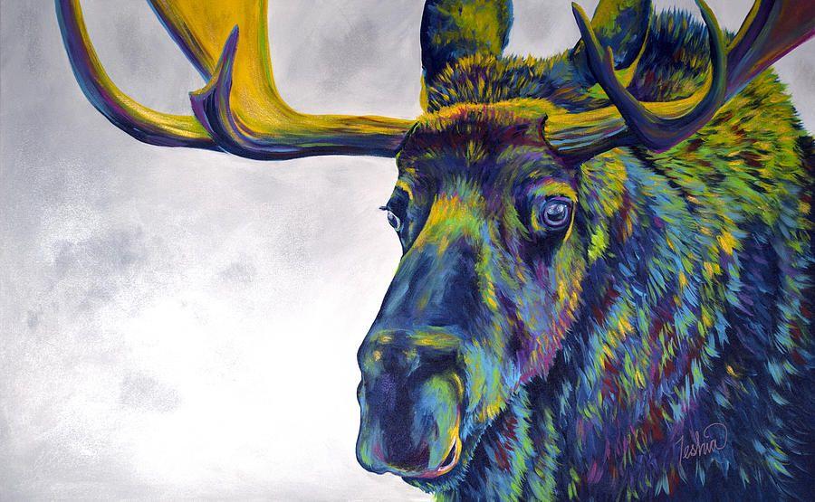 Moose Paintings for Sale