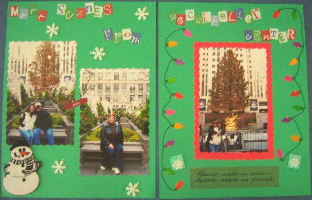 Rockefeller Center Scrapbook Page Kit