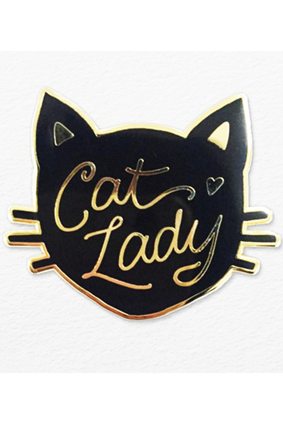 Calling all cat ladies! This lapel pin makes the most charming accessory! Wear on your jacket, sweater, shirt collar, tote bag, or anywhere that needs some extra cuteness. Available in black or white.