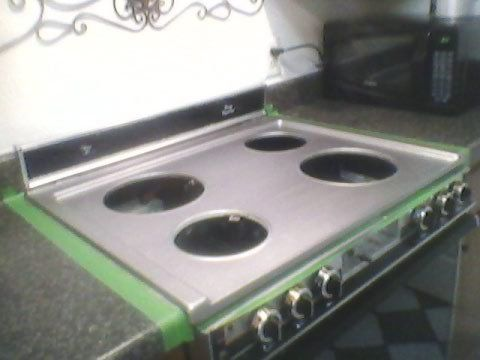 Diy Projects Painted Stove Top Diy Kitchen House Cleaning Recipes Oven Diy