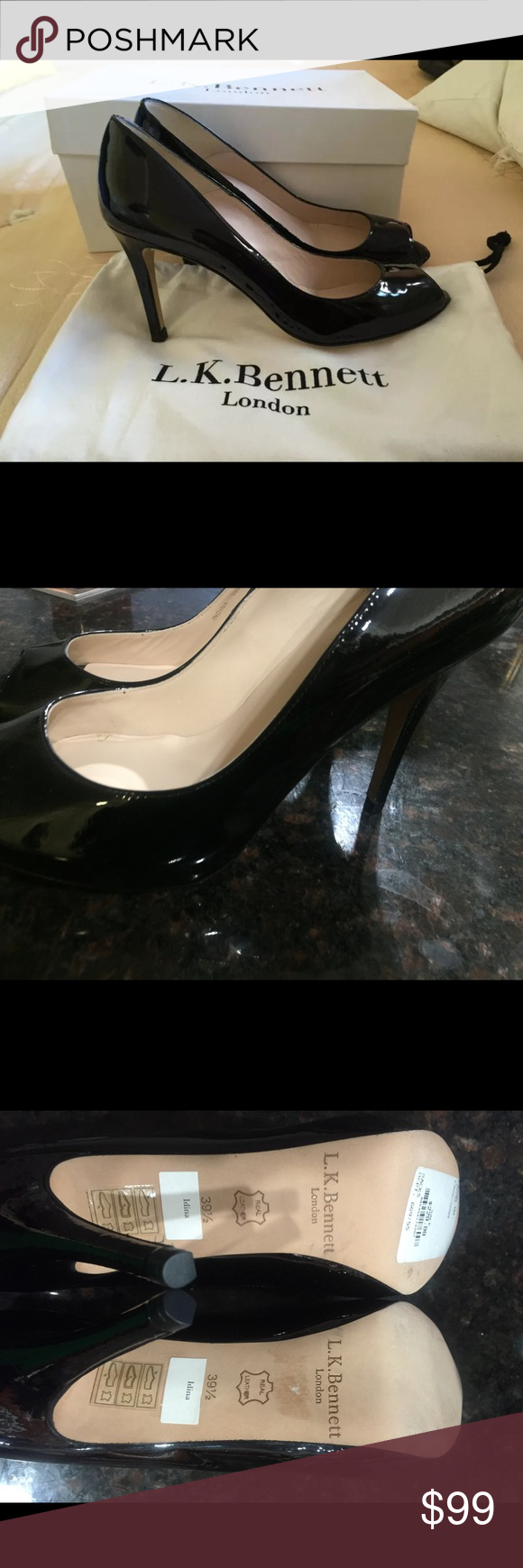 Brand New LK Bennett Peep Toe Pumps Perfect condition.  Too small for me, sadly. LK Bennett Shoes Heels
