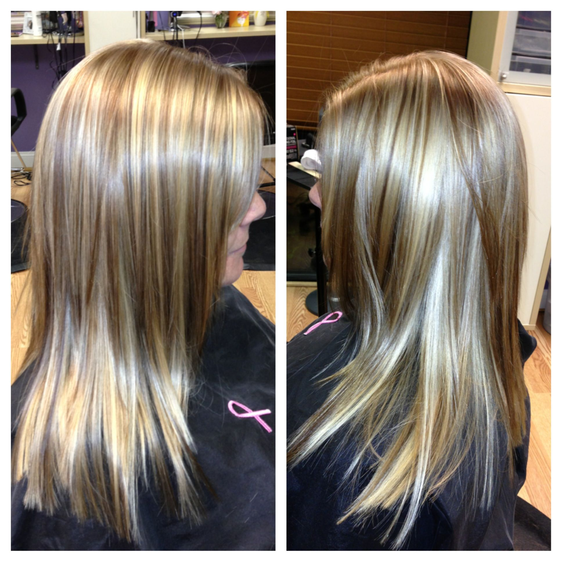 Beautiful color with highlights and lowlights beauty hair