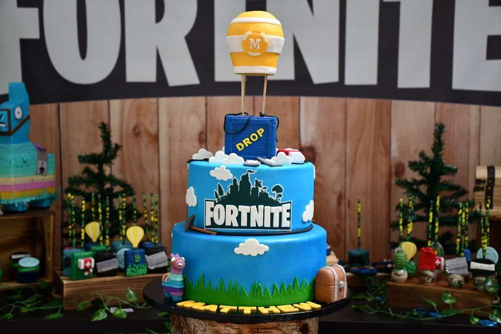 Fortnite Birthday Party Ideas Photo 1 Of 17 In 2020 Birthday Cake Toppers Boy Birthday Cake Birthday