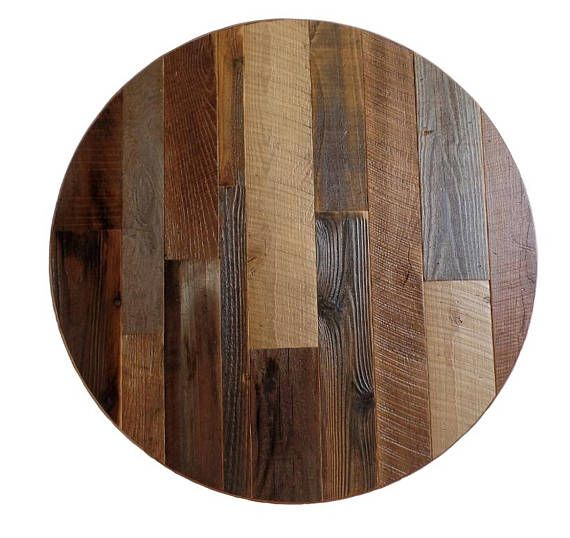 Round Table Top Reclaimed Wood 30 Inch