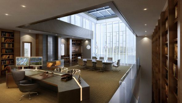 Luxury Manager Ceo Office 3docean With Images Office Interior