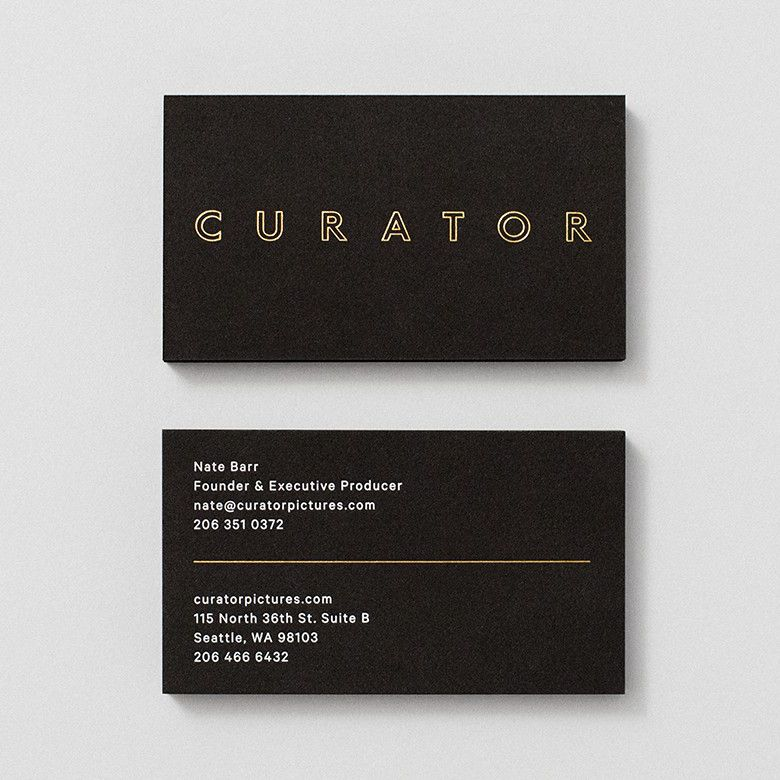 Business cards with gold foil detail by shore for seattle based business cards with gold foil detail by shore for seattle based production company curator pictures colourmoves
