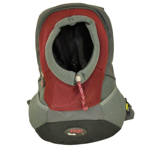 Wacky Paws Pet Backpack, X-Large, Burgundy - http://www.thepuppy.org/wacky-paws-pet-backpack-x-large-burgundy/