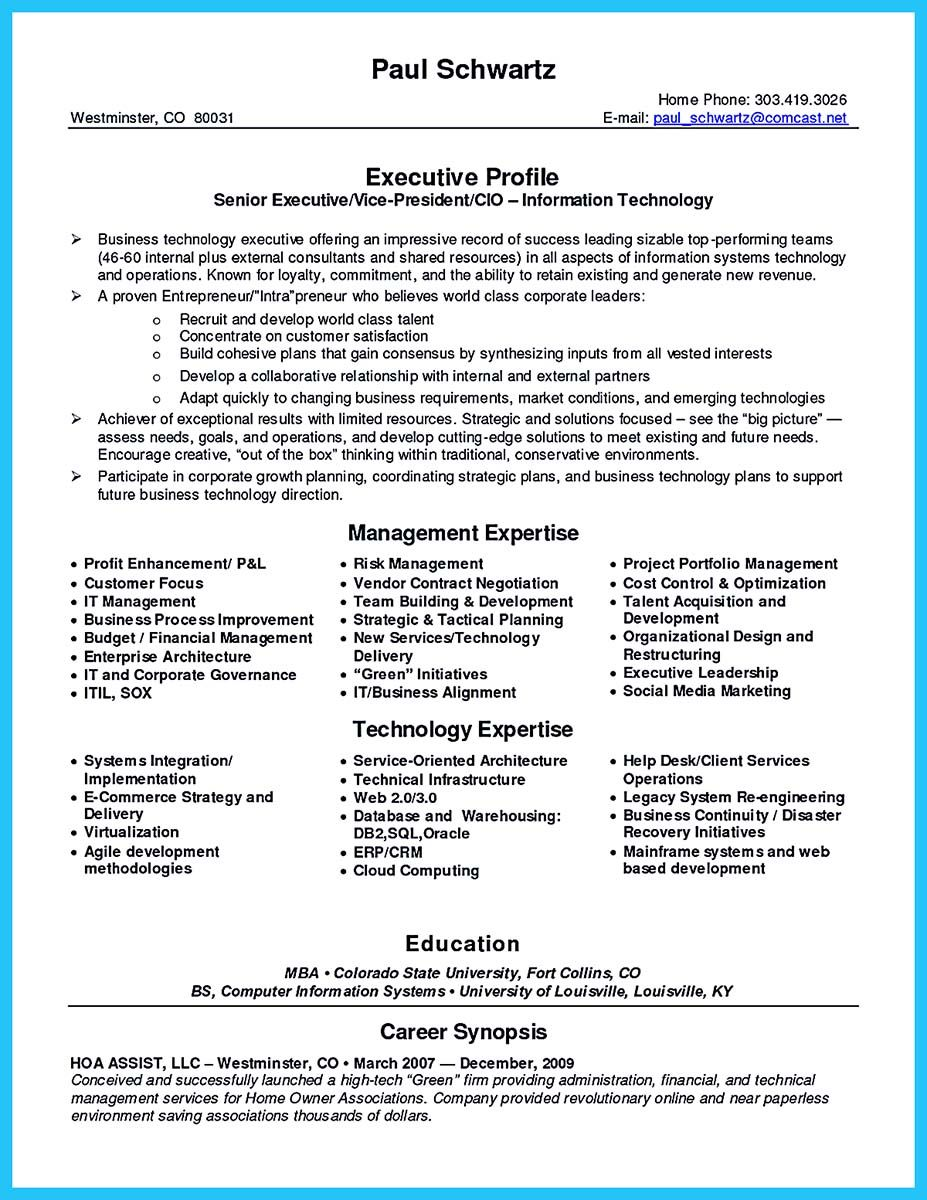 resume for professionals