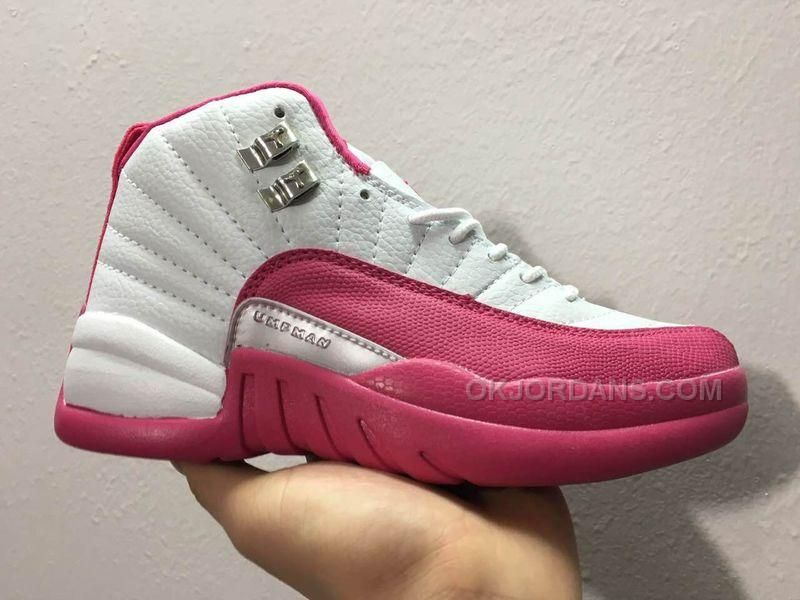 a2a16aae683f5a Women Air Jordan 12 GS Dynamic Pink Sneaker AAA 212