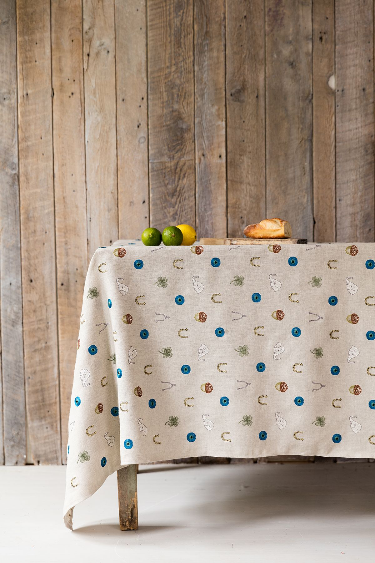 Coral U0026 Tusk Embroidered Lucky Pattern Fabric Linen Tablecloth