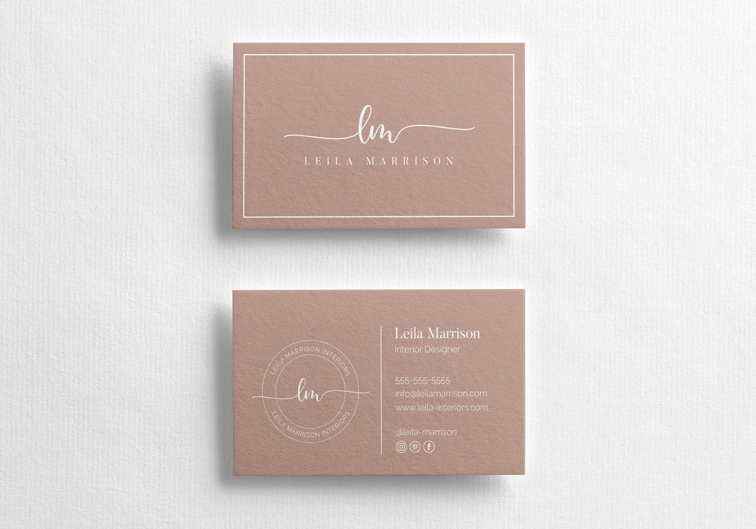 Business Card Template Instant Download Custom Business Card Etsy Design Business Card Ideas Minimalist Business Cards Elegant Business Cards