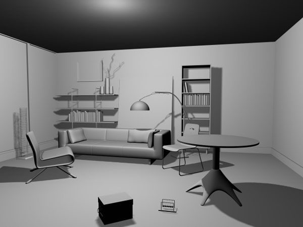 Living Room Interior Design 3ds 3D Studio Max
