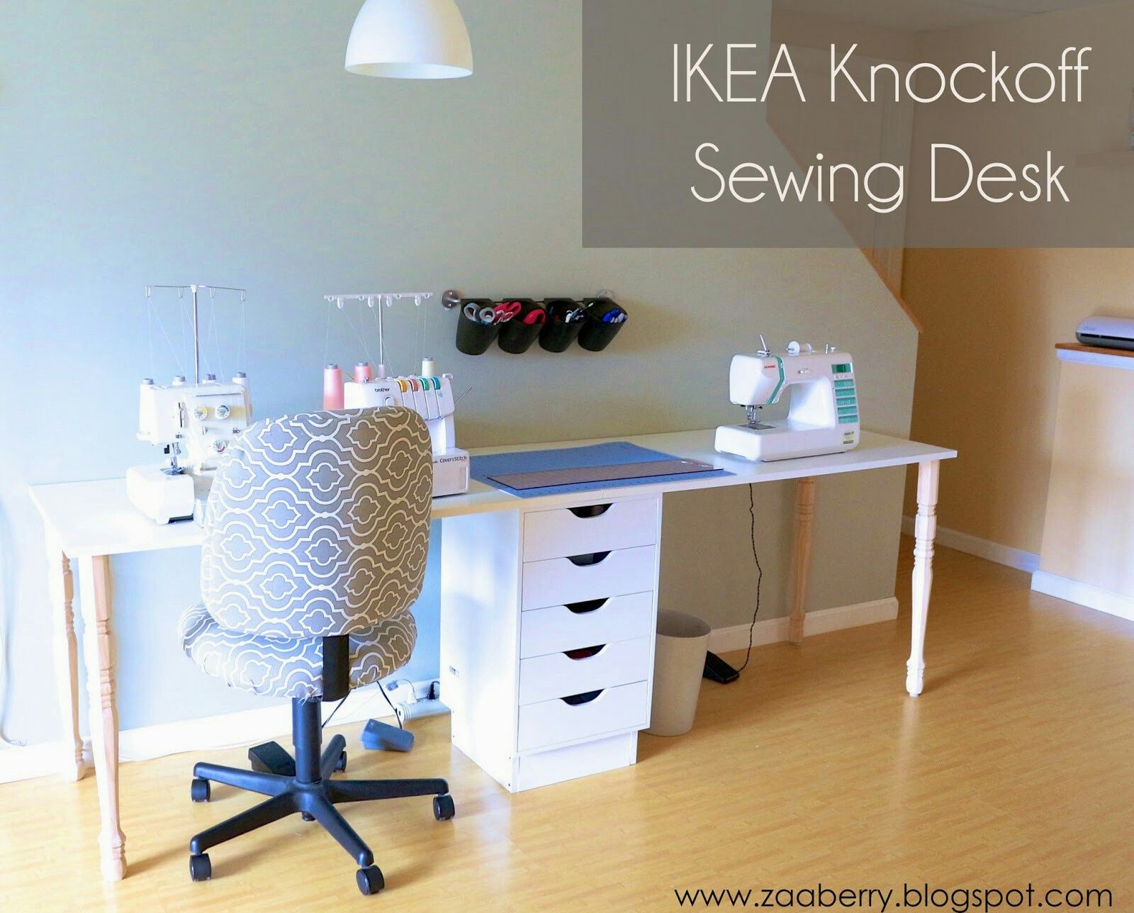 Diy sewing table ikea pin by lori gomez on sewing room  pinterest  sewing rooms
