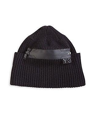 Y-3 Zippered Wool Beanie - Black