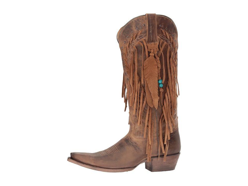 95e0db6f2f0 Ariat Brisco Fringe Cowboy Boots Dusted Wheat | Products | Fringe ...