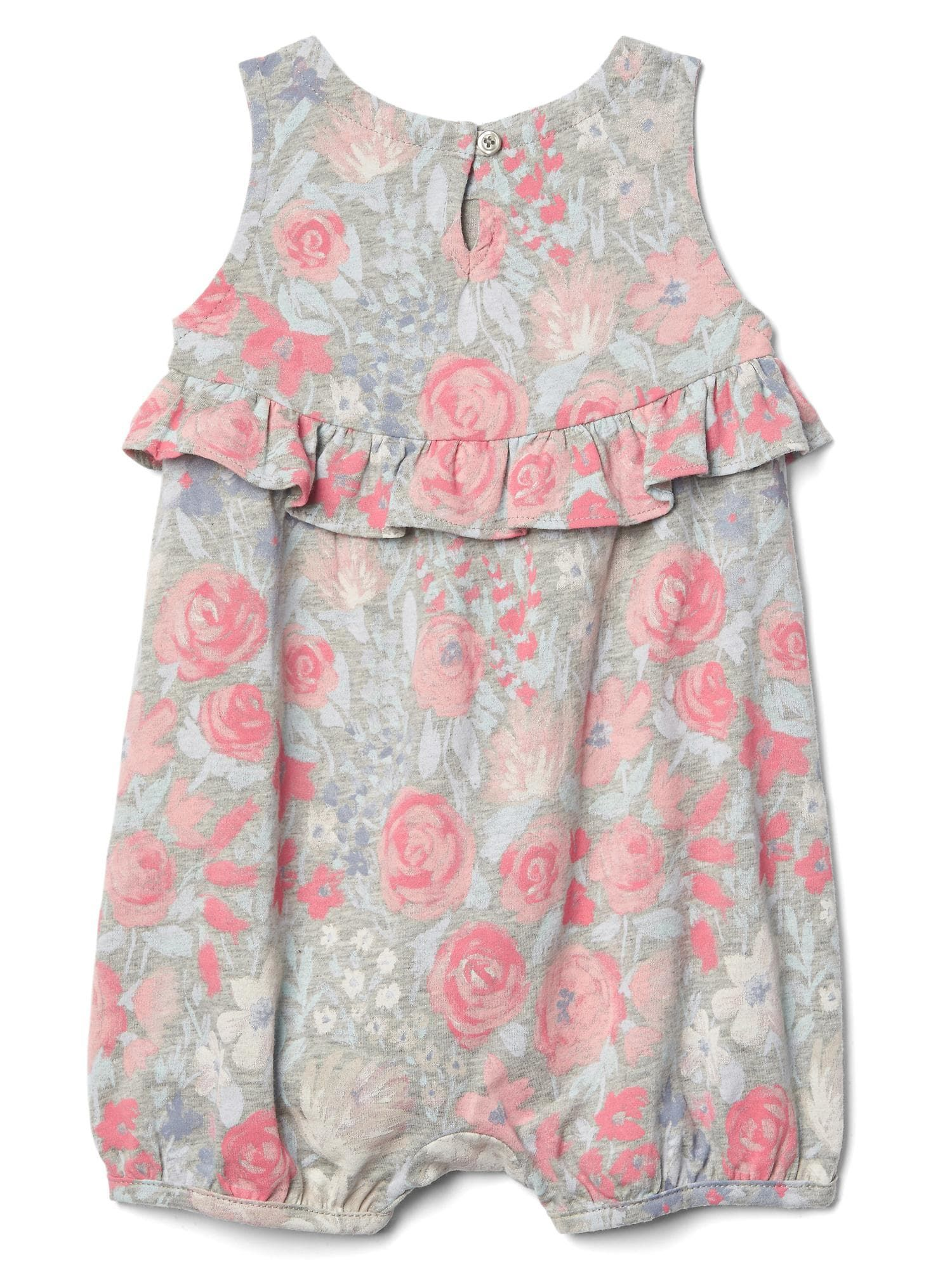 Pink floral baby romper from Gap
