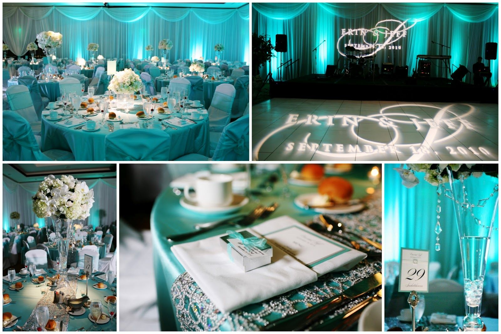 Tiffany Blue Wedding Erin Jeff S Reception Save The Date
