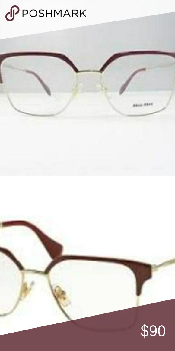 d3e7b833b69b Eyeglasses Miu Miu Miu Miu VMU 52O UE5-1O1 Frames Eyeglasses 52mm - 37 100