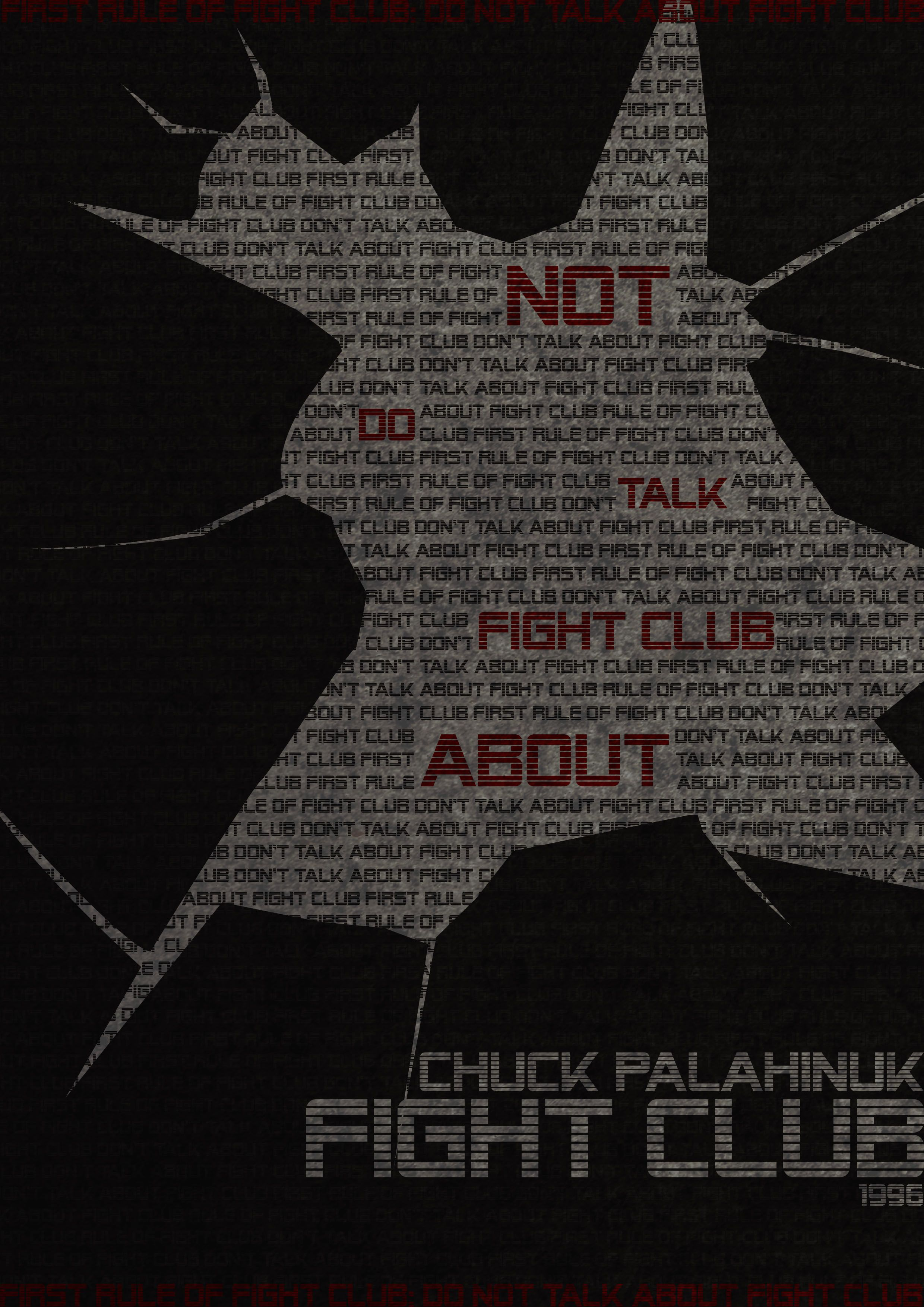 First rule is... Fight club, My books, Fight