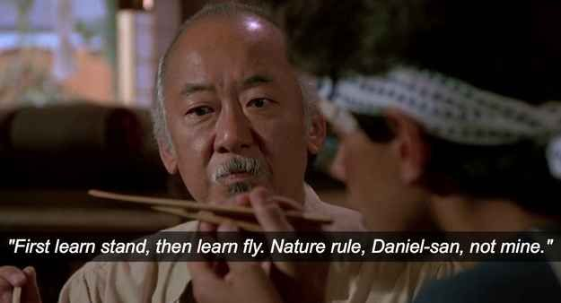 Wise Beyond Your Years Quotes: The Karate Kid (1984)