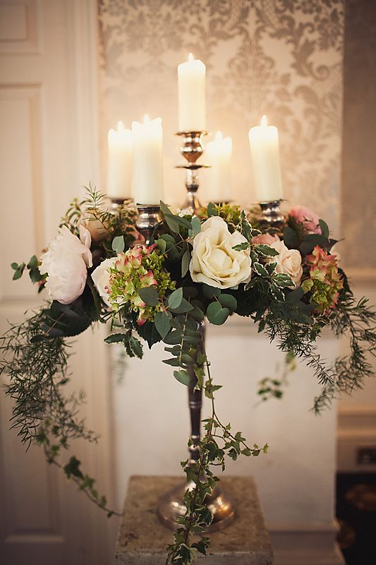 Fl Candelabra Wedding Reception Centerpiece