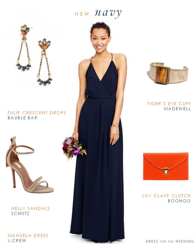 Navy Maxi Dress for Bridesmaids