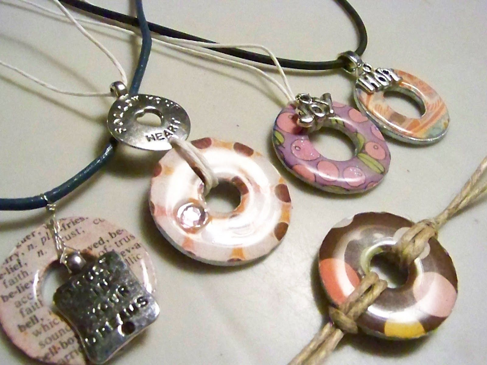 washer decoupage camp img crafts necklace