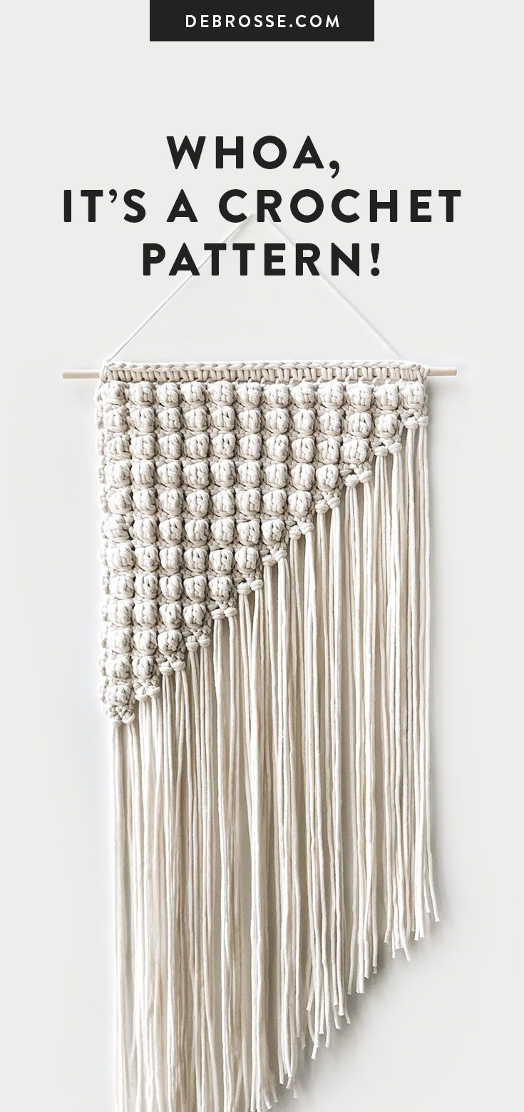 Crochet ⨯ The Les Cayes Crochet Wall Art Macrame Wall