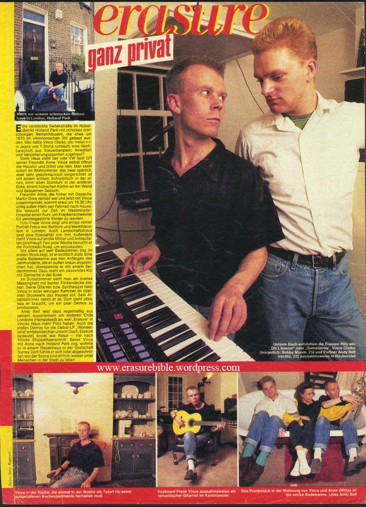 1987 - Bravo (Jan 1987) - erasure ganz privat, Germany (wm