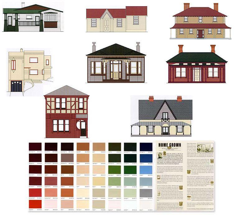 Heritage Colours In New Zealand Verandah Color Schemes
