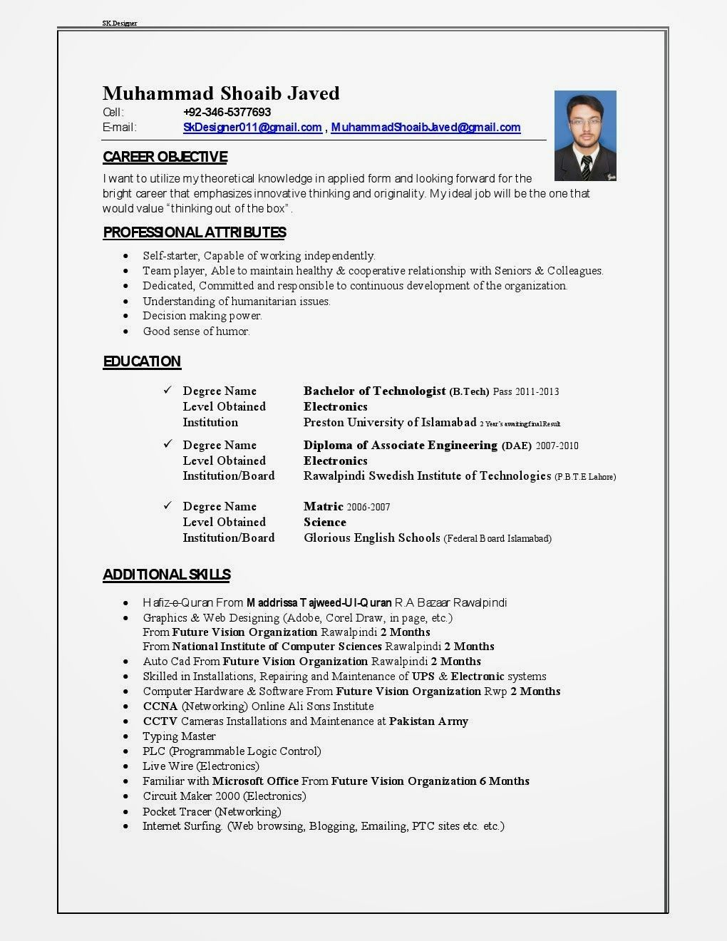 Cv Template Qatar Best resume template, Cv template, Job
