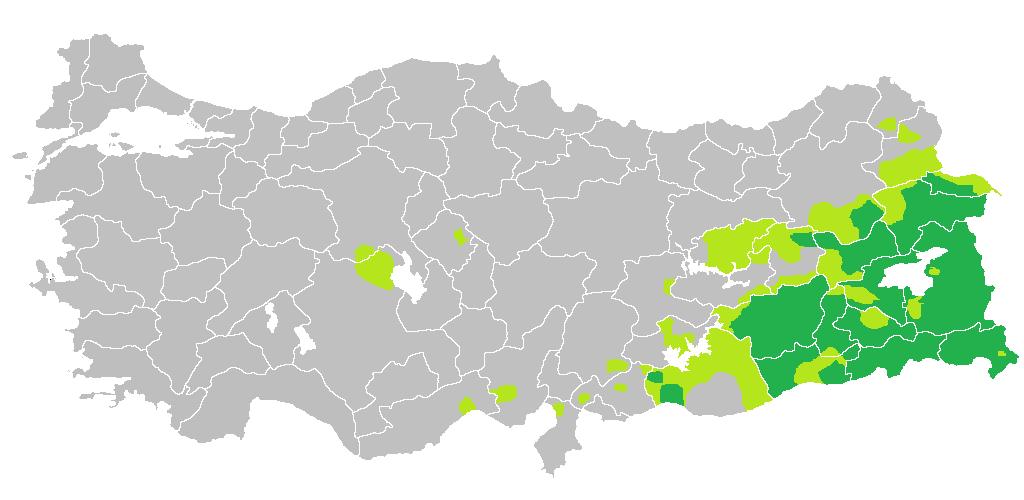 Distribution Of Kurdish Population In Turkey MAPS Pinterest - Population Map Of The Us