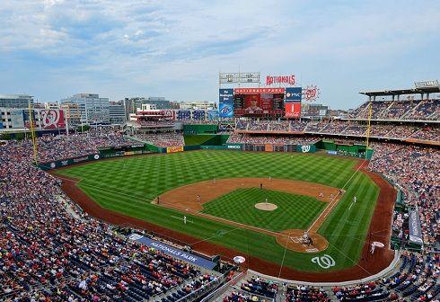 Washington Nationals At Nationals Park Capacity 41 506 Major League Baseball Stadiums Nationals Park Baseball Stadium