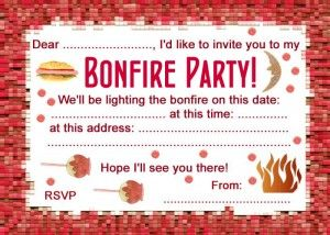 free printables party invitation: bonfire night | entertaining, Party invitations