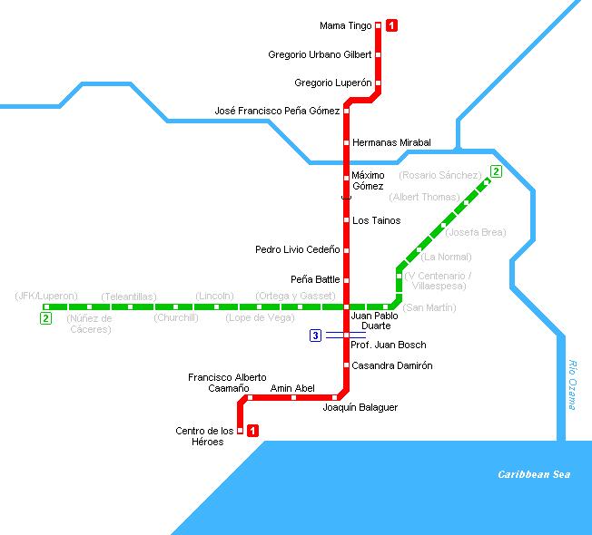 Santo Domingo Subway Map
