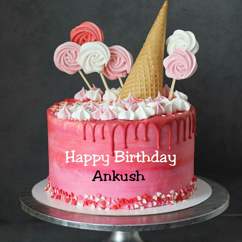 Sensational Strawberry Cream Birthday Cake With Kid Name On It With Images Personalised Birthday Cards Sponlily Jamesorg