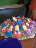 Instead of a birthday cake, how about stiletto cupcakes? Made with Pepperidge farm cookies and cookie twist sticks. Simple and fun to do with the birthday girl :)  Legacys Little Luxuries LLC is on facebook.