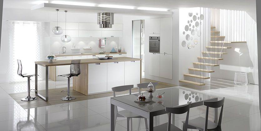 Cuisine cuisine blanc design : 17 Best images about La cuisine on Pinterest | Belle, Kitchens and ...