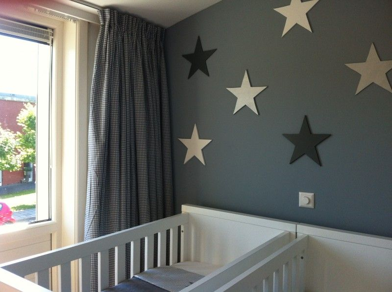 Kinderkamer Gordijnen Sterren : Sterren vaiku kambarys gordijnen verf en sterren