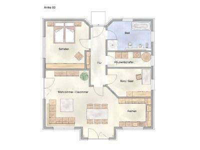 grundriss eg anika 93 einfamilienhaus von abacus haus besonders offener wohnbereich. Black Bedroom Furniture Sets. Home Design Ideas