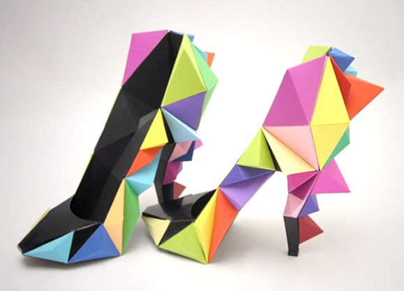 Recycled Paper Shoes. Check out these origami shoes @Dana Burton!