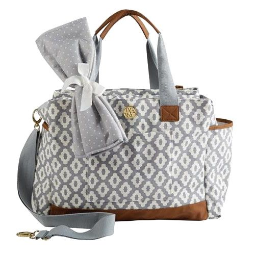 Lindsay Diaper Bag In Gray