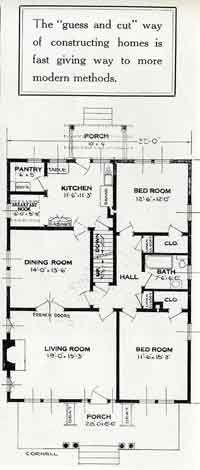 Standard Home Plans For 1926 The Cornell House Plans Cottage Floor Plans How To Plan